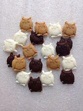 Edible Sugarpaste Owls - Cake Topper x 20 cream/brown
