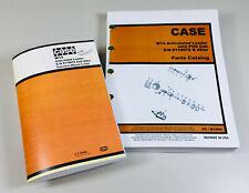 J I Case W14 Articulated Loader Operators Parts Manual Catalog Set