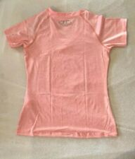 NWT Women UNDER ARMOUR HeatGear Short Sleeve Fitted Shirt Pink NWT S Size