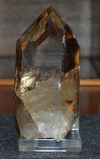 Wasserklarer, hochglänzender Rauchquarzkristall aus Brasilien.