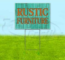 Rustic Furniture 18x24 Yard Sign With Stake Corrugated Bandit Usa Business Sale