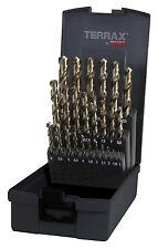 Terrax by RUKO, 25pcs. Drill Bit Set Ground, HSS-G TiN, 1-13mm, Titanium Coating