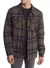 $85 Quiksilver Men's Cypress Road Plaid Jacket Full Zip Four Leaf Clover Size M