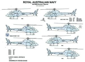 1/48 RAN DECALS; Aerospatiale AS.350B Squirrel Helicopter