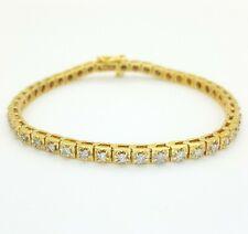 Ladies 14ct (585, 14K) Yellow Gold Natural (1.07ct) Diamond Tennis Bracelet