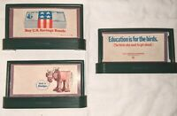 Lionel Billboard AND train Railroad Signs - O/O27 - 3 signs from 1960s