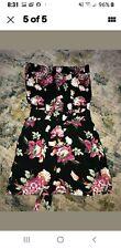 Derek Heart Juniors Size M Floral Strapless mini Dress runs small