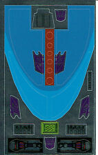 TRANSFORMERS GENERATION 1, G1 DECEPTICON SCOURGE REPRO LABELS / STICKERS