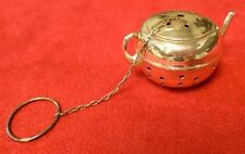 Sterling Silver Round Teapot Shaped Tea Ball (#2276)