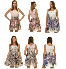 Women's Elegant A-Line Swing Casual Party Summer Dress Sleeveless Made in Europe