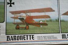 Flair Radio Control Model Aeroplane Kit Baronette RC Scout