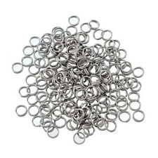 200PCs Stainless Steel Circle Ring Double-deck Fingdings For Jewelry Necklace