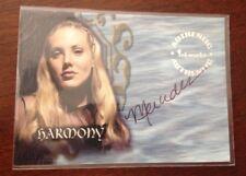 Buffy the Vampire Slayer Autograph Card A20 Mercedes Mcnab as Harmony Kendall