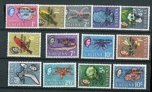 Tristan da Cunha QEII 1963 Resettlement set of 11 SG55/67 MNH