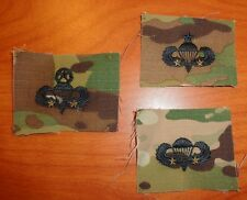 U.S. ARMY parachute BADGE, 2 COMBAT JUMP STAR CLOTH ON MULTICAM, SET OF 3