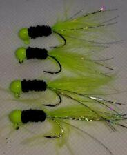 Hand Tied Crappie Jigs 1/16oz  Black/Chartruese