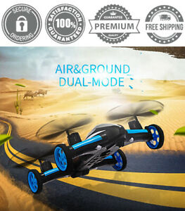 2.4G RC Air Ground Flying Car Remote Control Quadcopter 4 Channel Kids Toy Gift