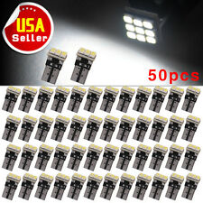 50X Super White T10 1206 Wedge 9-SMD Interior LED Light bulbs W5W 194 168 2825