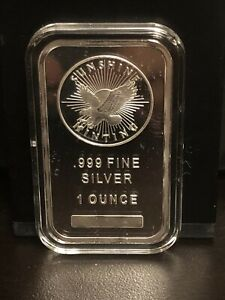 Sunshine Minting 1 oz Silver Bar + Protective Case *FREE FAST SHIPPING*