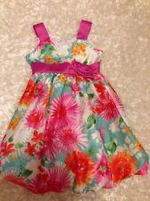 GIRLS JESSICA ANN Spring Floral Print Dress SIZE 5 EUC