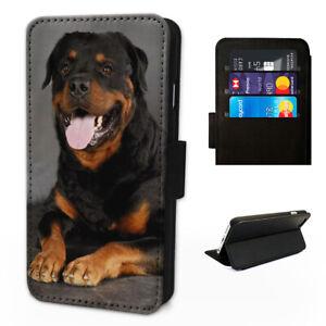 Rottweiler Dog -  Flip Phone Case Wallet Cover - Fits Iphones & Samsung