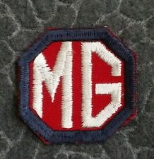 Vintage MG Cloth Cut Edge Racing  or Dealership Patch - MG Classic Cars