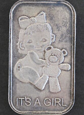 1997 Silver Towne It's a Girl Silver Art Bar Lot P1603