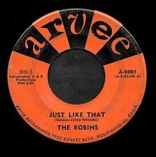 "THE ROBINS ""JUST LIKE THAT/Whole Lot Imagination"" ARVEE 5001 (1960)"