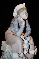 LLADRO GIRL SITTING WITH DOLL BASKET #1211 FIGURINE  SPAIN VALENCIA