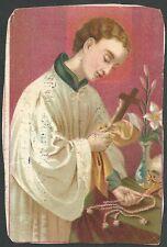 Estampa antigua San Luis Gonzaga andactsbild santino holy card santini