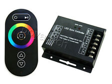 Common Anode RGB LED Sync Controller RF Remote Control Touch Panel DC12V-24V 24A