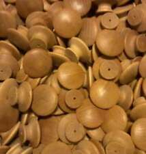 12 1-1/2 inch ROUND VARNISHED BIRCH KNOBS *NEW*Pulls Cabinet Handles Paintable
