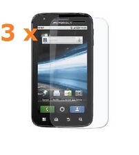 3 X New Crystal Clear Screen Protector for Motorola Atrix 4G MB860 MB 860