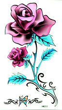 King Horse Big Purple Rose, Butterfly Temporary Tattoos HM213 New Arrival!!