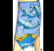 Zantika Medium Length V Hem Skirt - Frogs LionFish Turtles Dolphins 4 x Sizes