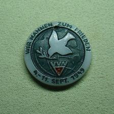 DDR Medaille - Wir mahnen zum Frieden - VVN 4.-11. Sept. 1949 - aus Porzellan