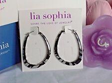 """Beautiful Lia Sophia """"INSTINCT"""" Hoop Earrings, NWT"""