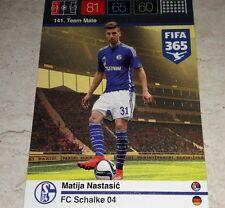 CARD ADRENALYN FIFA 365 CALCIATORI PANINI SHALKE 04 NASTASIC CALCIO