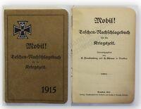 Freudenberg Mobil Taschen-Nachschlagebuch für die Kriegszeit 1915 Militaria xy