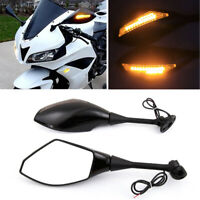 MOTORCYCLE LED TURN SIGNAL LIGHT REARVIEW MIRRORS HONDA 04-08 CBR 600RR & 1000RR