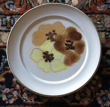 Denby POTPOURRI HONEY Salad Plate ENGLAND Brown & Yellow Flowers