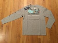 NWT Boy's LS Vineyard Vines Halloween Zombie Whale Pocket T-Shirt L Or XL