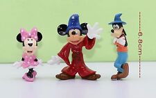 Disney Mickey Mouse & Friends Mini Figures 3-pcs set Mickey Minnie Goofy #411Dmc