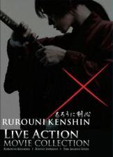 DVD Samurai X Movie 3 in 1 Boxset Rurouni Kenshin + Kyoto Inferno + Legend End