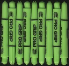 1.75in. 2ba Electric Green TARGET Pro Grip Dart Shafts & Springs: 1 set of 3