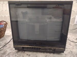 """Vintage 1987 Montgomery Ward 14"""" Retro Gaming Tube TV Television TESTED WORKS!"""
