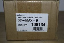 COOPER WHEELOCK DC-MAX-R INDUSTRIAL STROBE RED DOUBLE FLASH 10.5 to 31 VDC
