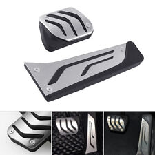 2pcs Gas Fuel Brake Footrest Pedal Cover Silver For BMW 1 3 5 7 Series X3 X5 Z4