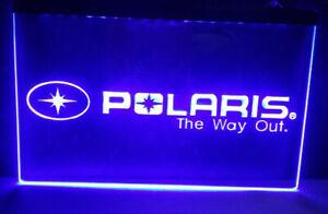 Polaris Led Sign Light Hanging Acrylic Engraved Snow Mobile Quad ATV