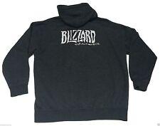 (XL) BLIZZARD CINEMATICS Gray Full Zip Hoodie Warcraft Gamer Nerd activision EUC